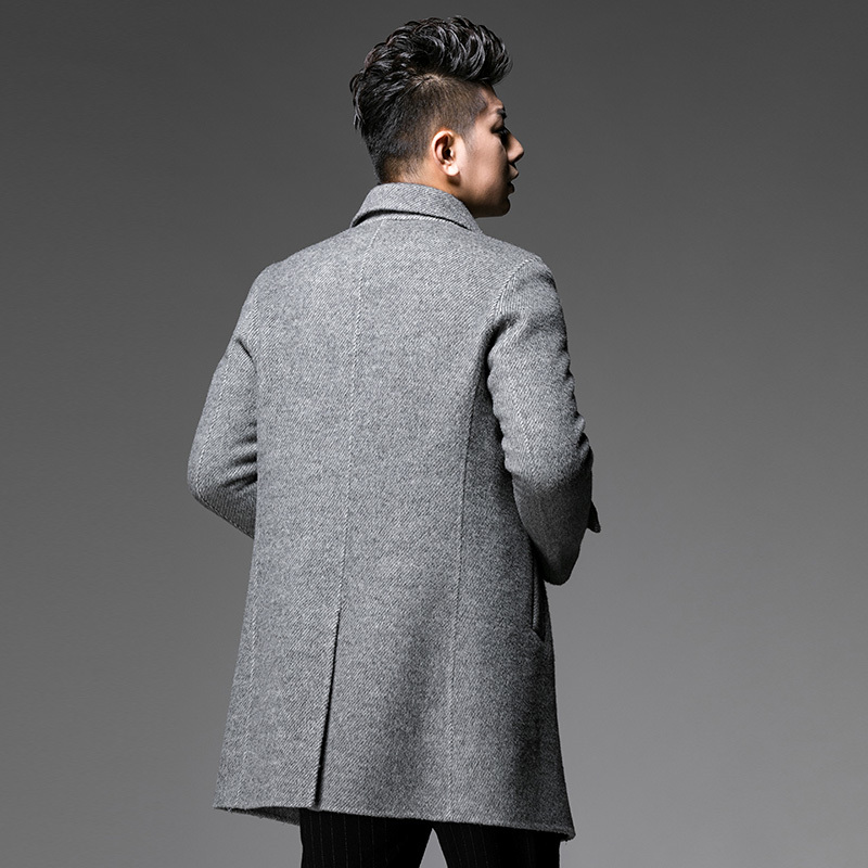 Real Wool Coat Autumn Winter Jacket Men Double-side Woolen Coat Streetwear Mens Jackets And Coats Abrigo XCH19013 MY1432
