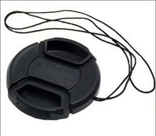 30pcs/lot 40.5mm 49mm 55mm center pinch Snap on cap cover LOGO for Sony camera Lens  with tracking number