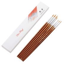 7Pcs/Set Art Painting Brushes Acrylic Oil Watercolor Artist Paint Brush Dulcet NEW Home Christmas products(China)
