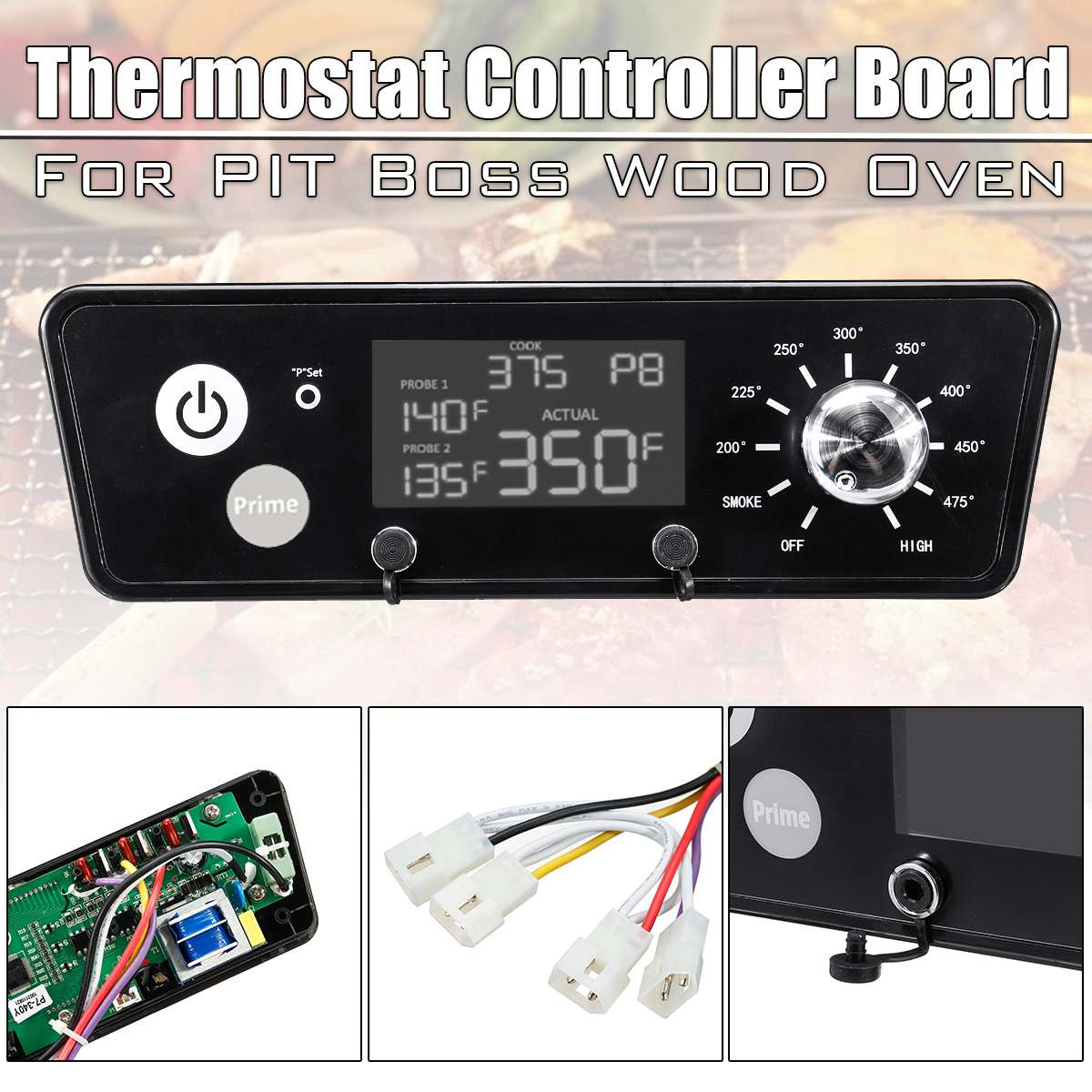 Nouveau AC 120V Thermostat numérique conseil mise à niveau régulateur de température remplacement pour granulés gril cuisine Barbecue Barbecue outils