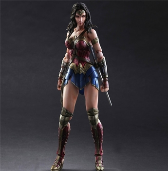 цена 26cm Wonder Woman Play Arts Figure 1/6 scale painted Variant Doll Anime PVC Action Figure Collectible Model Toy онлайн в 2017 году