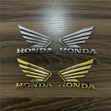 Sticker Badge Motorbike-Decal Logo Wind-Emblem Honda Gold Brand for 2pcs 3D