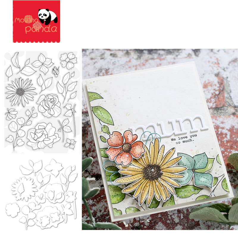 SPRING FLOWERS Metal Cutting Dies And Stamps For Stencil Scrapbooking Album New For 2020 Die Cut Stitch Craft Die Stencil