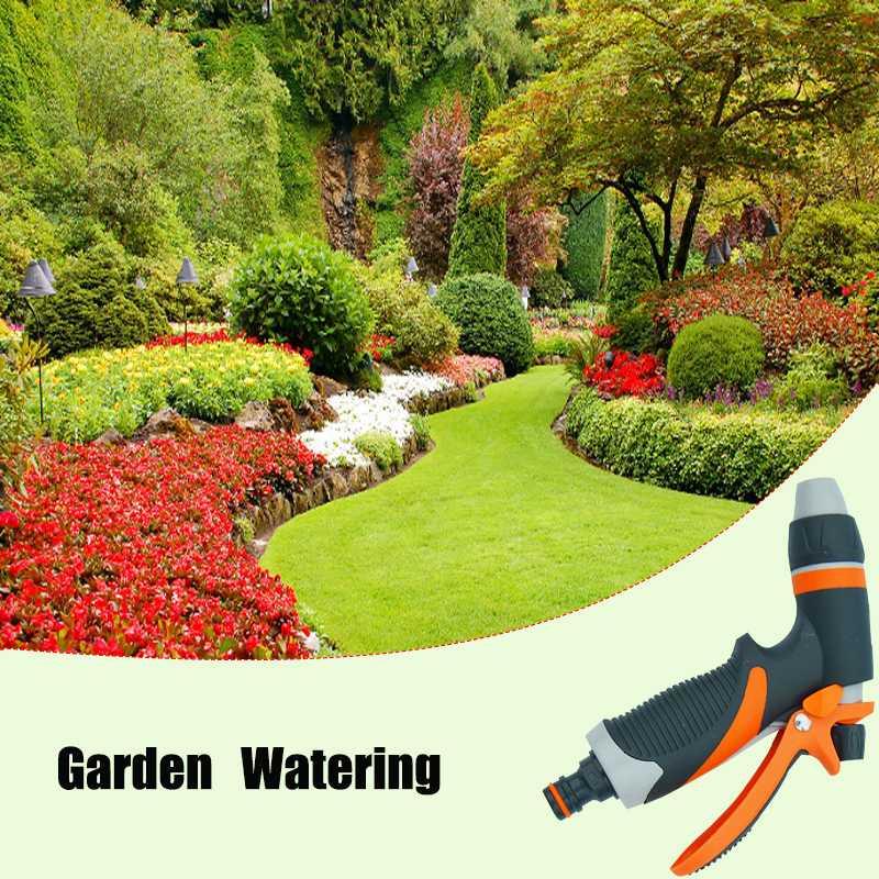 5 muster Mutifunctional Garten Wasser Pistolen Haushalt Auto Waschen Hochdruck Spray Rasen Bewässerung Streuen Tools Kit mit 4 Düse