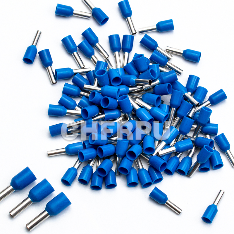 Pack of 100 Terminal Block Insulated Wire Ferrules Connector 16AWG Blue