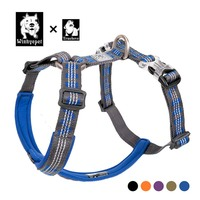 Truelove Dog Harness Collar Soft Safety Pulling Walking Harness For Dog Strap Belt Run Multi Use Support Truelove Odblaskowe