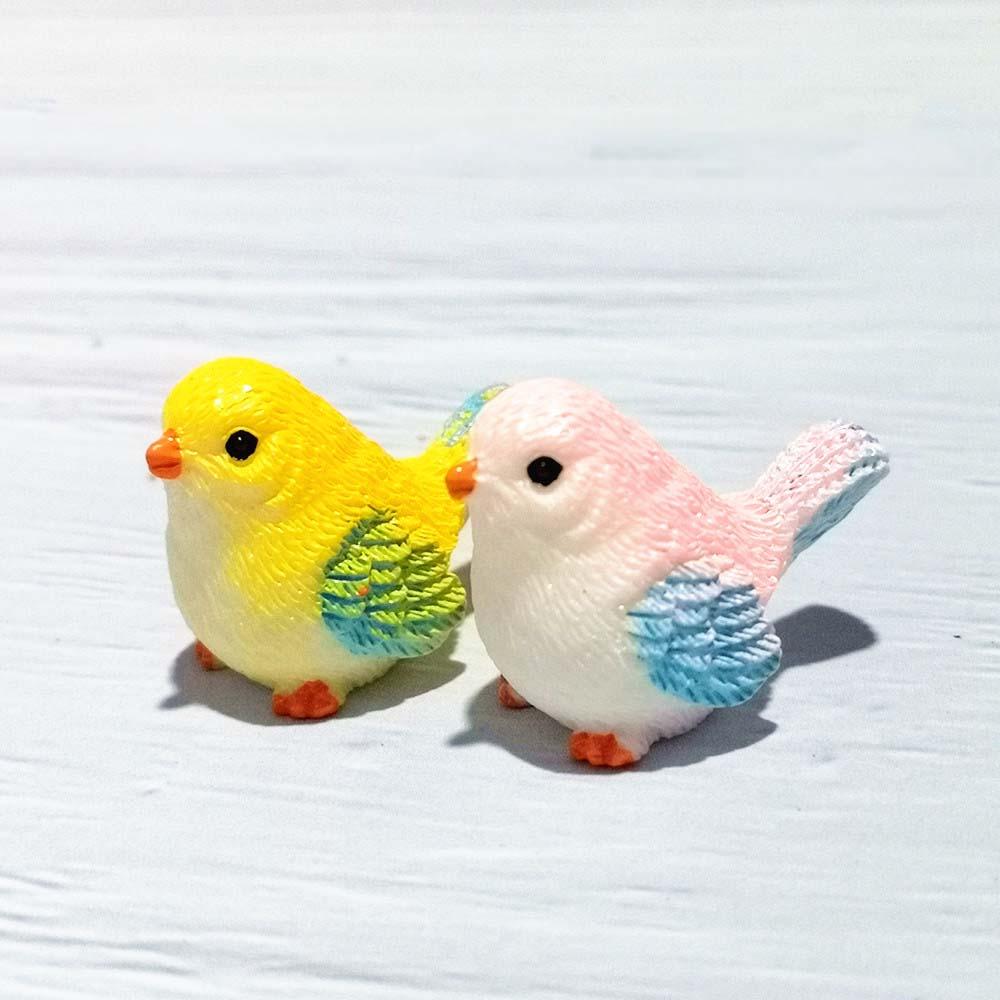 4 шт., миниатюрная фигурка в виде птичек