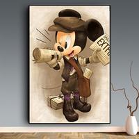 Disney Poster und Druck Donald Ente Wandbild Mickey Maus Graffiti Kunst Leinwand Drucke Wand Kunst Bild für Wohnzimmer Weihnachten
