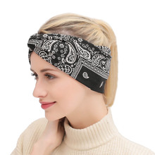 Xugar Printed Knot Headbands for Women Fashion Bohemia Girls Turban Headband Female Hair Accessories Scarf