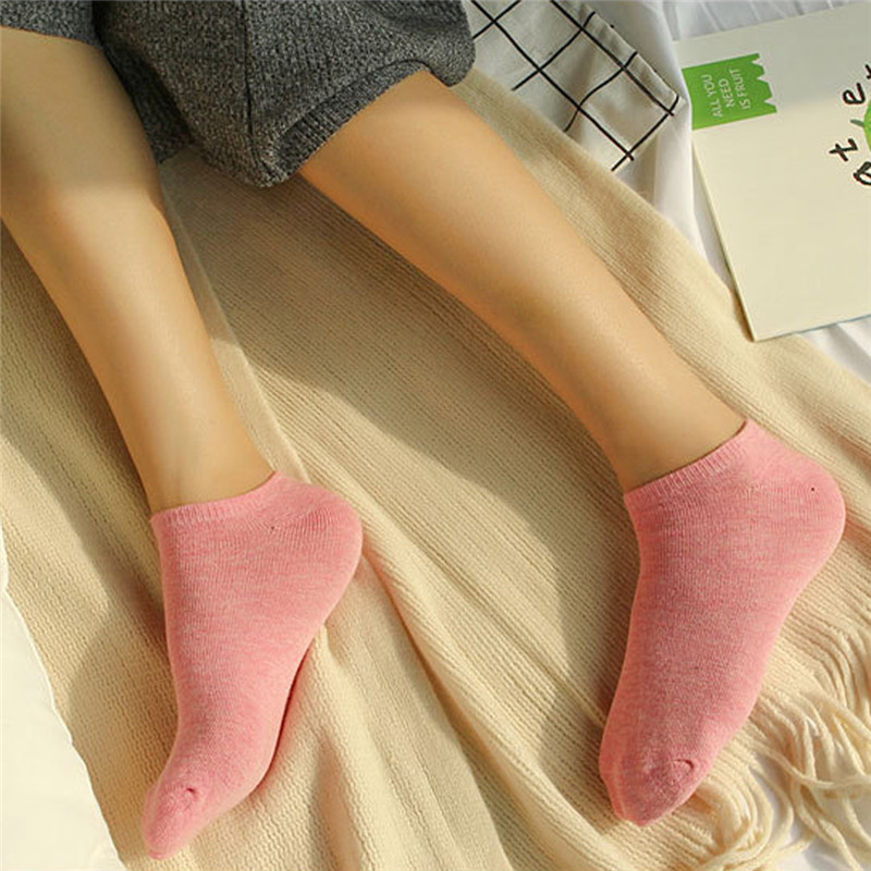 1 Pair 2019 Spring New Fashion Socks Cotton Solid Women's Socks Casual Breathable Comfortable Cotton Socks Fashion Boat Socks