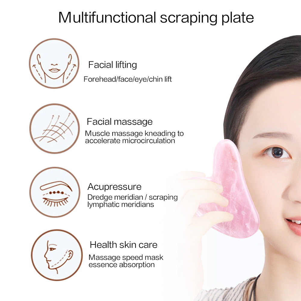 Beeswax Massagers For Face Body Gua Sha Scraper Beauty Facial Roller Set Natural Beeswax Massage Slimming Skin Care Lift 5