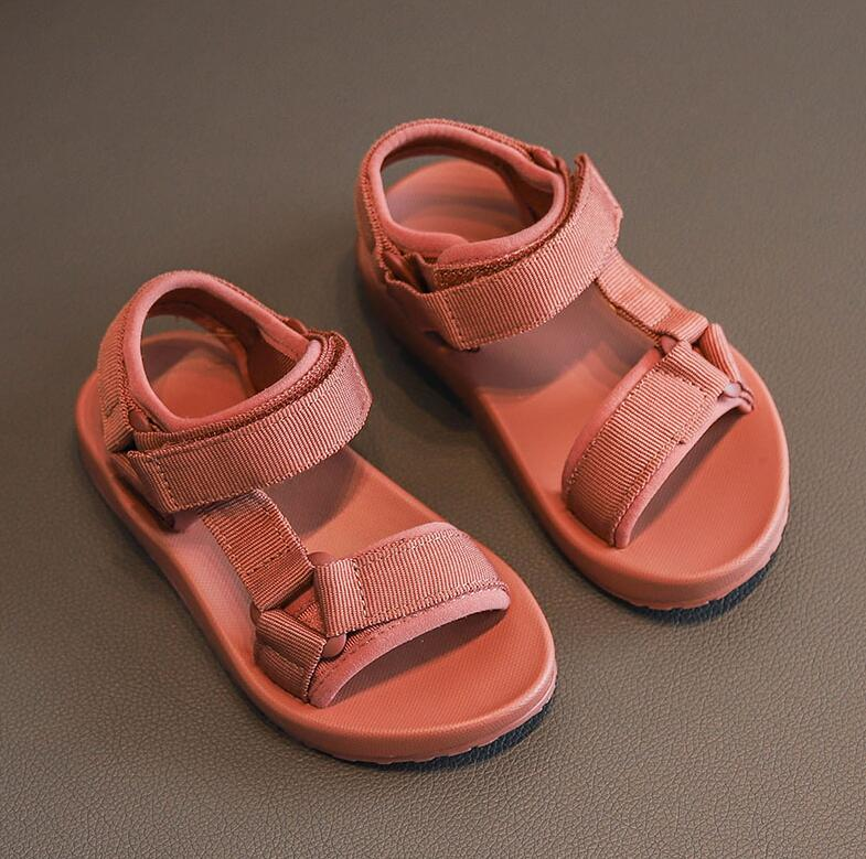 Brand Girls Boys Summer Sandals Children Soft Sole Beach Sandals Anti-slip Cute Kids Sport Shoes Kid Shoes Size 21-36
