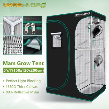 Mars Hydro 150X120X200cm 2-in-1 Grow Tent 1680D Water-Proof Non-Toxic Reflective Material for Indoor Growing System Plant Room 1
