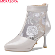 MORAZORA 2020 big size 33-43 fashion women boots stiletto high heels pointed toe ankle