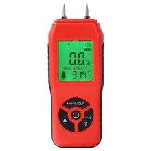Измеритель влажности древесины подсветка удержания данных Ручной цифровой инструмент измерения дров практичный детектор влажности два штифта