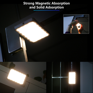 Image 5 - VIJIM VL 1 מיני Led וידאו אור צילום תאורה Vlog 96 חרוזים 3500 k 5700 k עבור טלפון חכם אחד בתוספת DSLR מצלמה Sony A6400