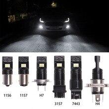 цена на Car Light For Fog Rear Reverse Brake Day Lights H8 H11 1156 P21W 1157 Bay15d P13W H16 H7 Car Auto LED Signal Light Lamp Bulb