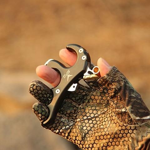 gire bracadeira arco composto liberacao aids quatro dedo