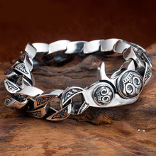 Оригинальные Серебряные браслеты ручной работы из тайского серебра 925 пробы, винтажная цепочка и звено, браслет S925, ювелирные изделия в подарок