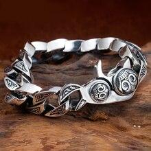 Tajski srebro oryginalne ręcznie srebrne bransoletki 925 srebro łańcuch w stylu Vintage i Link S925 bransoletka biżuteria prezent