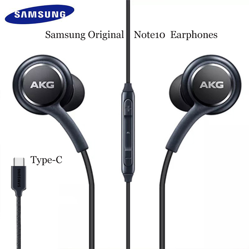 Original samsung akg dac usb tipo c fone de ouvido digital alta fidelidade fones com microfone/controle remoto para galaxy note 10 pro a8s a60 a80 a90