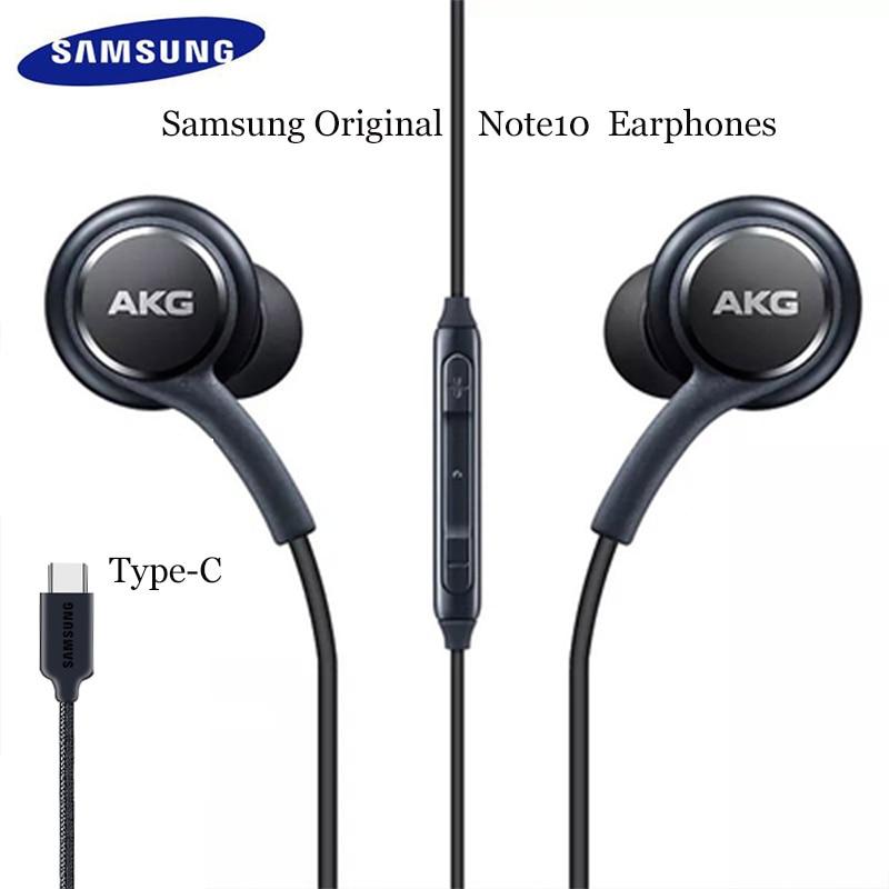 Original samsung akg dac usb tipo c fone de ouvido digital alta fidelidade fones com microfone/controle remoto para galaxy note 10 pro a8s a60 a80 a90|Fones de ouvido|   -