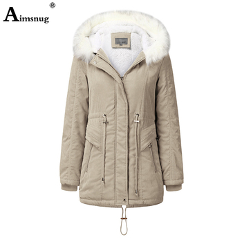 Single-breasted Zipper 2019 Winter Women's Coat Solid Khaki Drawstring Slim Hooded Split Female Tunic Outerwear Long Jacket цена 2017