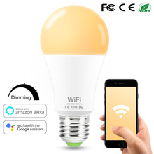 Smart WiFi Intelligente WiFi-Lampen e27/b22 Dimmable LED Lamp Remote Control Bulbs Work With Alexa Google Home