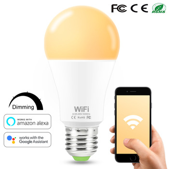 E27/b22 Dimmable LED Lamp Remote Control Smart WiFi Bulbs Smart WiFi Intelligente WiFi-Lampen Work With Alexa Google Home фото