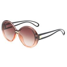 Senior Designer Customized Round Retro Sunglasses Female Multicolor Sunglasses  high definition Day and Night Sunglasses 9035 oumily retro colourful reflective dazzle colour sunglasses golden multicolor