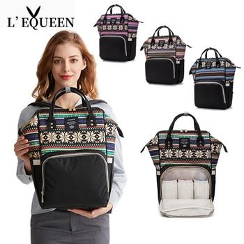 LEQUEEN Diaper Bag For Mom Maternal Nappy Backpack Mother Stroller Pram Baby Care Nursing Organizer Changing Bags Multifunction цена 2017