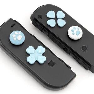 Image 5 - D pad לנוע צלב כיוון כפתור ABXY X מפתח מדבקת ג ויסטיק אגודל מקל אחיזת כובע כיסוי עבור Nintend מתג NS שמחה קון עור מקרה