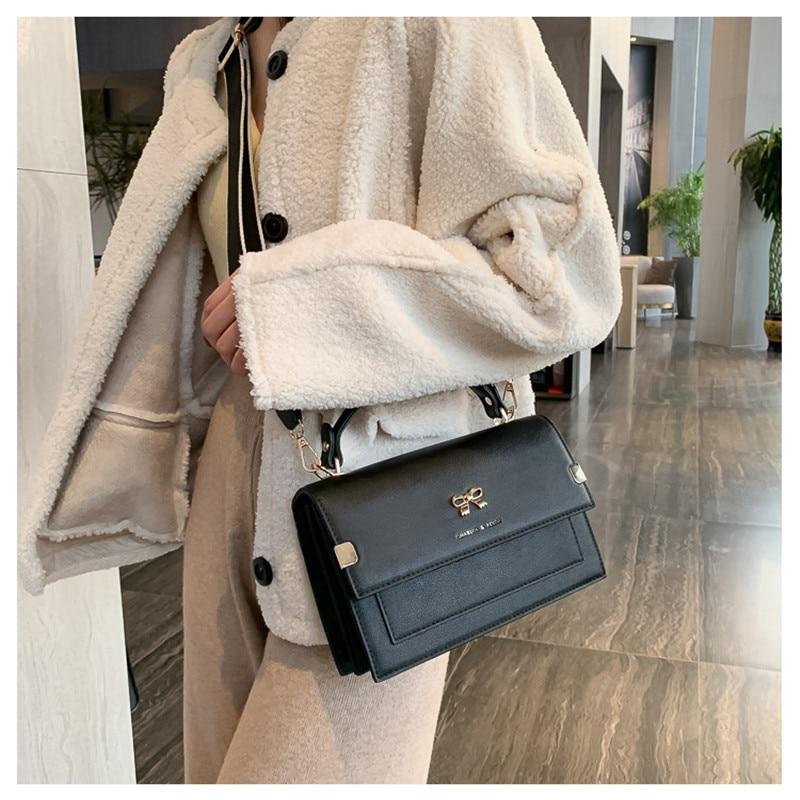 Crossbody Bags For Women 2021 High Quality Wide Shoulder Strap Flap Handbag Female Simplicity PU Leather Shoulder Bag MM50043