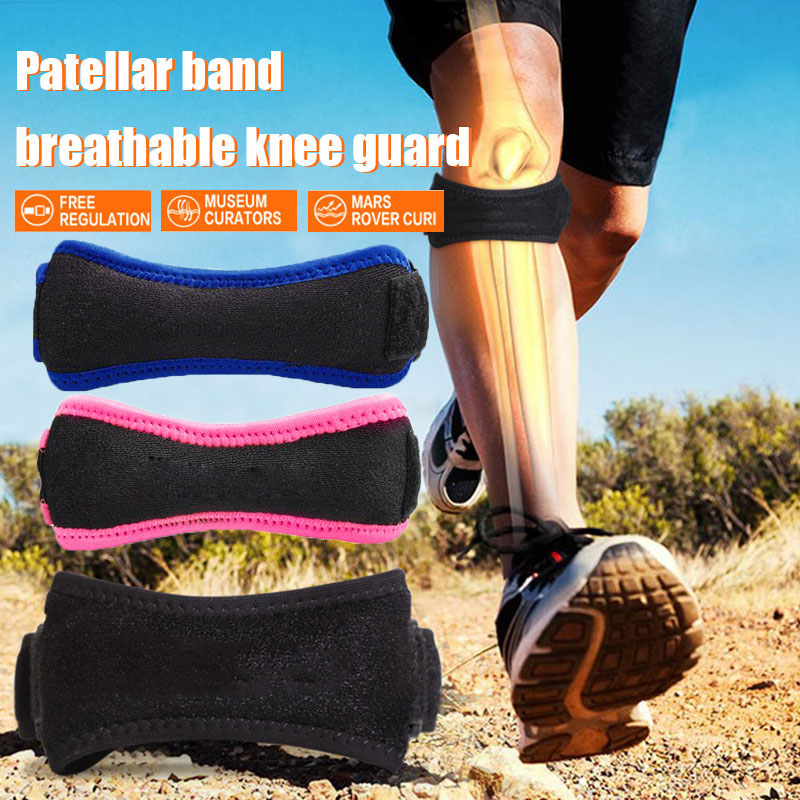 HOT Soft Brace Knee Protector Belt Adjustable Breathable Patella Tendon Strap Guard Support Pad 19ING