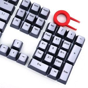 E element 104 ключ PBT Радуга двойной прозрачный ключ крышка механическая клавиатура черный чай красная ось индивидуальный ключ крышка