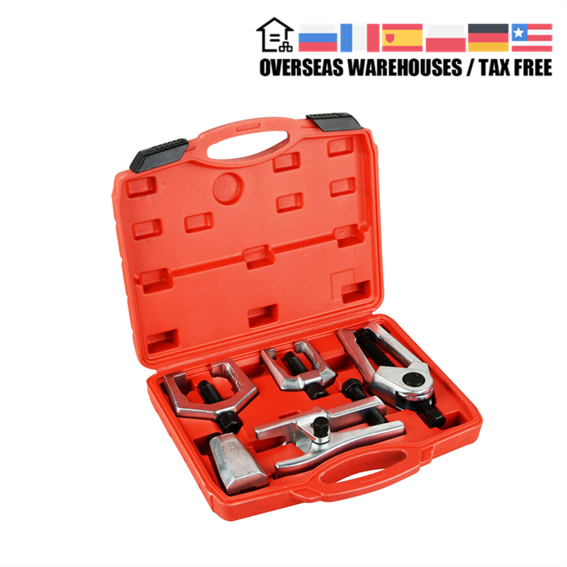 MR CARTOOL 5pcs Front End Service Tool Kit Pitman Arm/Tie Rod End Puller Ball Joint Separator Tie Rod Remover Car Repair Tool