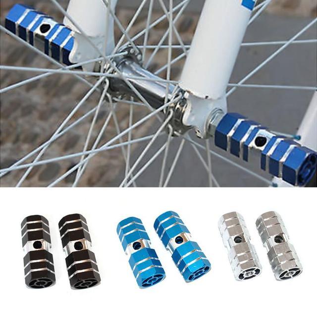 1 para rower podnóżki tylna oś pedały kołki sześciokątne aluminiowe antypoślizgowe uniwersalny rowerowy pedały osi