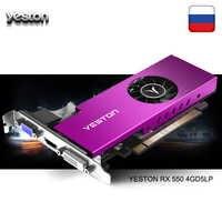 Yeston Radeon mini RX 550 GPU 4GB GDDR5 128bit Escritorio de Juegos de ordenador vídeo de PC gráficos soporte VGA/DVI-D/HDMI/PCI-E 3,0