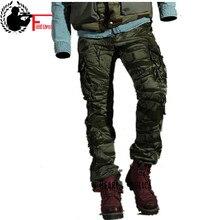 패션 남자 바지 봄 코튼 위장 군사 바지 남자 스트레이트 전투 캐주얼 전술 오버올 캐주얼 남성 바지
