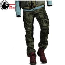 Pantaloni degli uomini di modo di Inverno Cotone Camuffamento Pantaloni Militari Uomini Eterosessuali di Combattimento Tattico Casuale Tuta Pantaloni Casual Maschile
