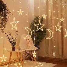 Ramadan Kareem Moon Star String Light Ramadan Decoraties Voor Huis Eid Mubarak Decor Ramadan Decoraties Voor Huis Eid Al Fitr