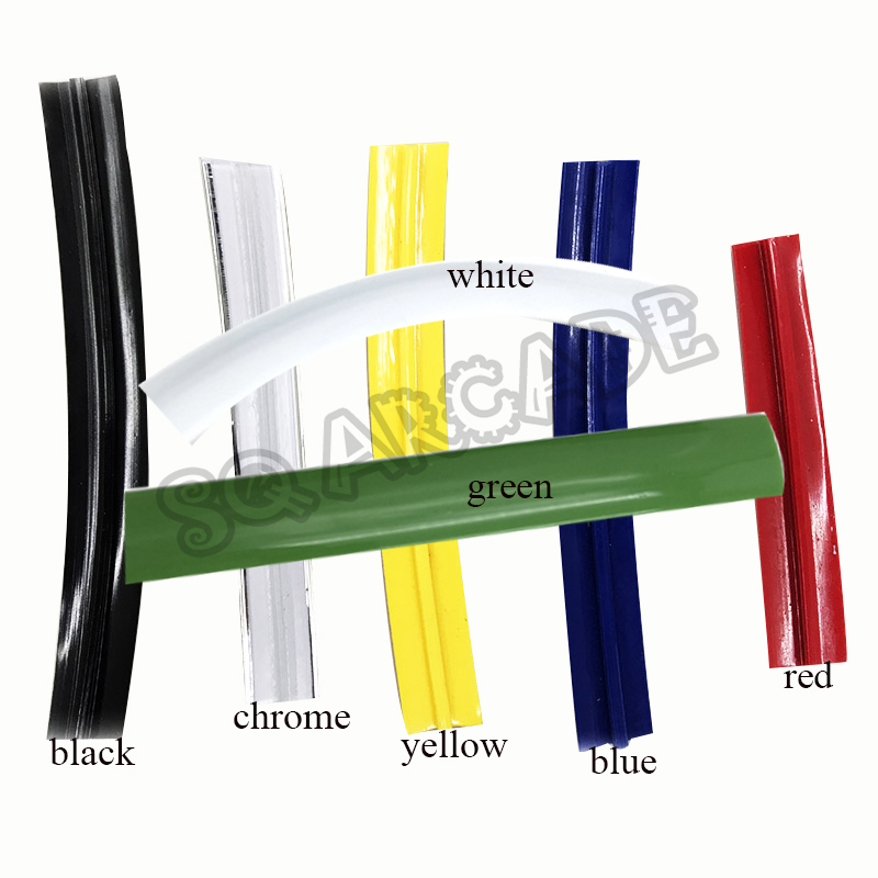 1 Meter Arcade T Molding 16mm 18mm 19mm PVC Plastic Edge T-Moulding For Arcade Cabinet