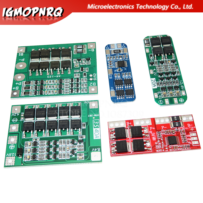 3S <font><b>10A</b></font> 20A 25A 30A 40A Li-ion Lithium Battery 18650 Charger PCB BMS Protection Board For Drill Motor Lipo Cell Module image