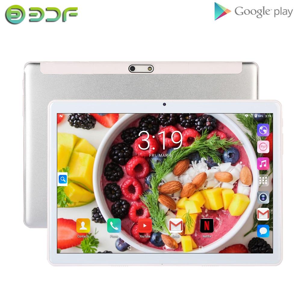 BDF Original 10 Inch Tablet Pc 3G Sim Card Android 7.0 Quad Core 1GB +32GB WiFi Bluetooth Camera 1280*800 IPS LCD Phone