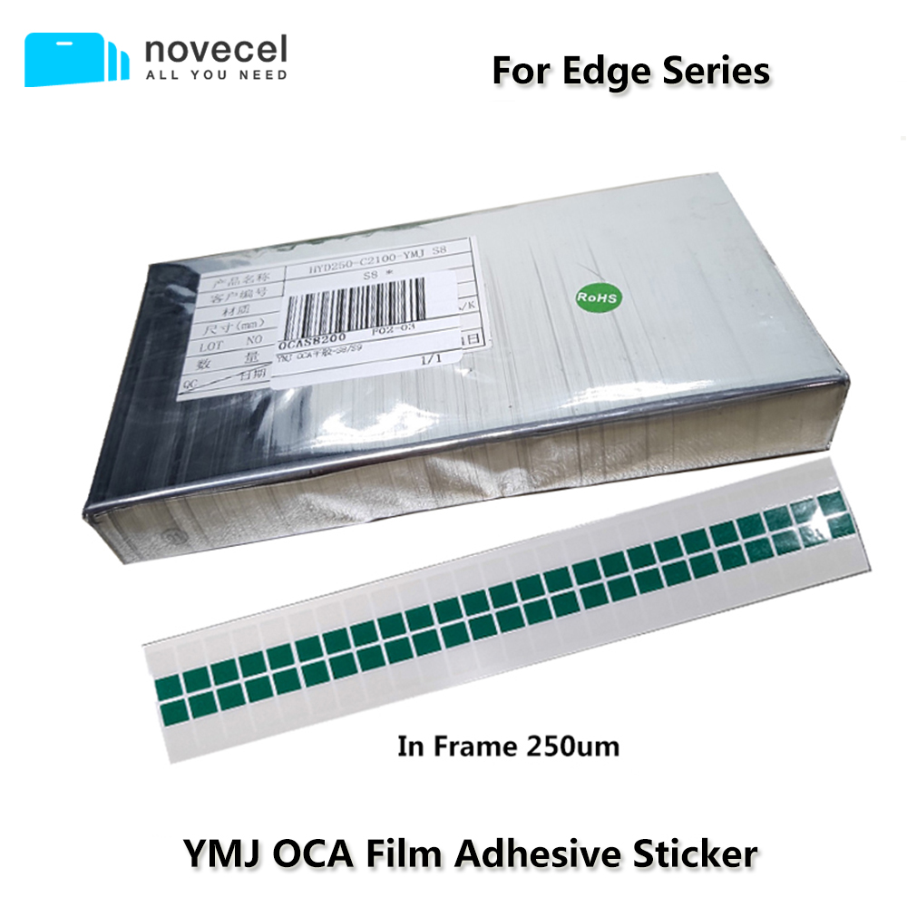 50pcs/lot In frme OCA Film Optical Clear Adhesive For Samsung Note10 S8 S9 <font><b>S10</b></font>+ Plus Note8 S7 Edge LCD Touch Glass Lens <font><b>Sticker</b></font> image