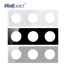 Wallpad Triple Tempered Glass Panel Only 258*86mm White And Black Round Circle
