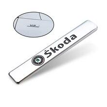3D Metall VIP Sport Auto Seite Fender Hinten Stamm Emblem Abzeichen Aufkleber Für Skoda Fabia Kamiq Karoq Kodiaq Octavia Schnelle scala Superb