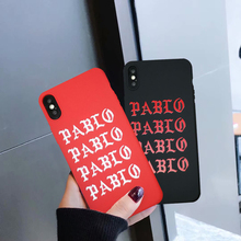 JAMULAR Funny Letter PABL Phone Case For iPhone X XS MAX XR 7 8 6 6s Plus Fashion Brand Soft Back Cover Black Red Silicone Shell