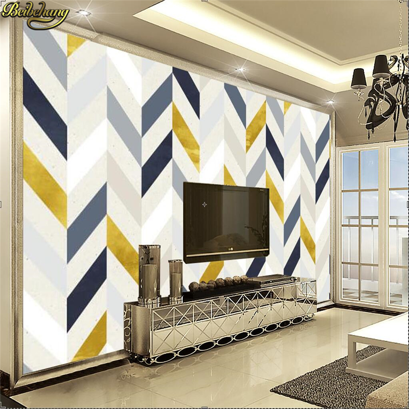 Beibehang Custom 3d Wallpaper Mural Abstract Geometry TV Background Art Painting Wall Papers Home Decor Papel De Parede