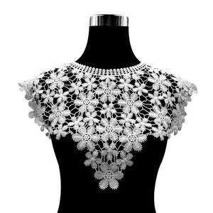 Image 4 - 30 Style High Quality White Lace Fabic Embroidered Applique Neckline for Lace Fabric Sewing Supplies Scrapbooking 45*27cm